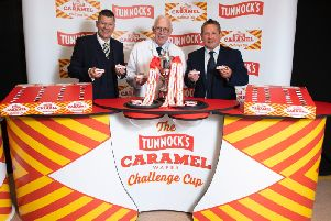 The Tunnocks' reveal is an early highlight of the Scottish football season. Picture: SNS