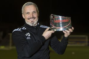 Jim Goodwin led Alloa into the Championship in his first full season as a manager. Picture: SNS.