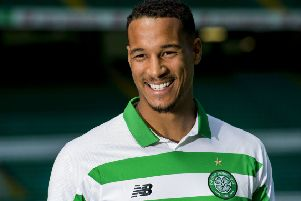 Defender Christopher Jullien is unveiled to the media after agreeing a four-year-deal at Celtic. Picture: Alan Harvey/SNS
