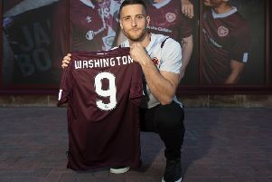 Conor Washington has joined Hearts from Sheffield United. Picture: Ross MacDonald/SNS