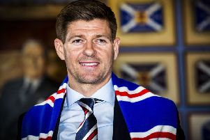 Steven Gerrard is under pressure to bring silverware to Ibrox this season. Picture: SNS.