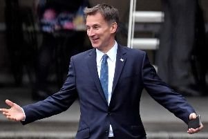 Foreign Secretary Jeremy Hunt on the Conservative Party leadership campaign trail.