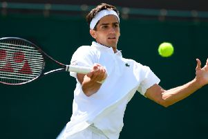 Pierre-Hugues Herbert felt pain in his thigh during a practice session on Saturday and had to cut it short