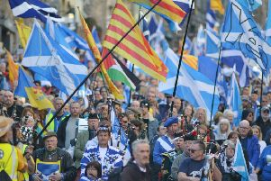 A majority of people in Scotland want a referendum to take place. Picture: Neil Hanna