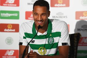 French defender Christopher Jullien  took part in yesterday's training session, his first since signing for Celtic. Picture: SNS.