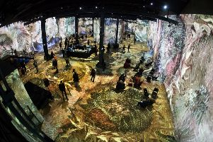 John Knox House will show Scotland's literary history in a similar way to the projections of Van Gogh works seen at Atelier des Lumieres in Paris. Credit: Photo by IAN LANGSDON/EPA-EFE/Shutterstock (10114355d)