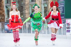 More than 80,000 people enjoyed skating in the Square last year. Picture: Ian Georgeson