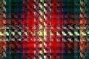 The vegan tartan has been designed to celebrate the plant-based lifestyle.