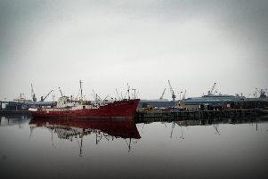 The Port of Leith, where the Alexander Tvardovskiy is detained (Photo: Paul Chappells)