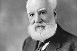 Trump's claim that Alexander Graham Bell (pictured) is American has become a subject of debate on Twitter.