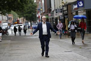 It never rains but it pours for the Labour Party leader, who now has the support of less than one in five British voters. Picture: Darren Staples/Getty