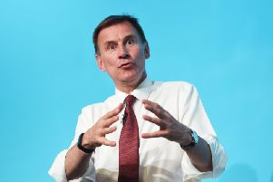Conservative party leadership contender Jeremy Hunt