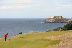 The signature hole at The Renaissance Club has a great view of Fidra Island. Picture: Ian Rutherford