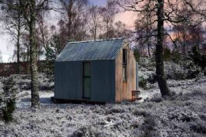 A hutting revival is underway in Scotland with the Inshriach Bothy near Aviemore (pictured) representing a new generation of huts being designed to meet the need for a simple, low impact retreat in the countryside. PIC: The Bothy Project.