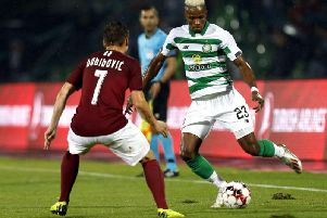 Boli Bolingoli-Mbombo impressed on his debut for Celtic before being forced off with an injury