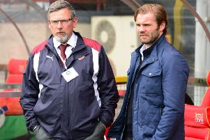 Craig Levein will be welcoming Robbie Neilson back to Tynecastle on Friday. Pic: SNS