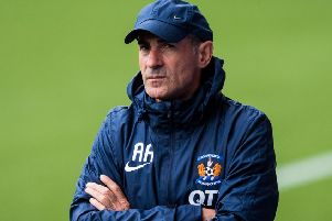 Kilmarnock manager Angelo Alessio oversees a training session. Picture: Ross Parker/SNS