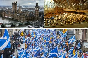 The relationship between the governments in London and Edinburgh is 'under pressure like never before' over Brexit, a senior SNP MP has claimed. Pictures: Pixabay/Wikicommons/John Devlin