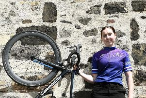 Katie Archibald at the launch of the Women's Tour of Scotland cycling race which takes place in August. Picture: Lisa Ferguson