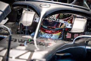 Lewis Hamilton prepares to go out for practice at Silverstone. Picture: Andrej Isakovic/AFP/Getty