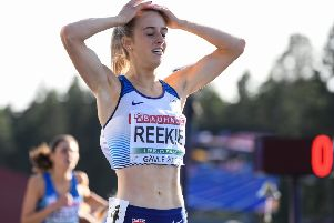 A delighted but exhausted Jemma Reekie won both the 800m and the 1,500m at the European Under-23 Championships. Picture: Getty Images for European Athletics