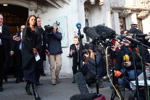 Gina Miller outside The Supreme Court.