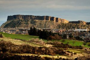 Salisbury Crags as seen from Braid Hills. Picture: Neil Hanna