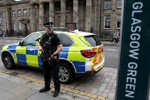 Police at Glasgow Green