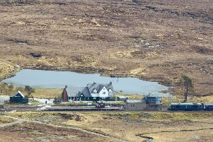 Corrour Station House restaurant, which is accessible only by train or foot, is due to be affected by the closure of the West Highland Line in October. PIC: Contributed.