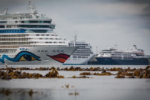 Kirkwall harbour sees around 140 cruise ships visit each year. Picture Magnus Budge