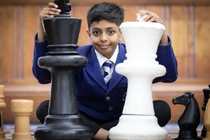 Aryan Mushi from Glasgow, who will compete in chess championship in China.