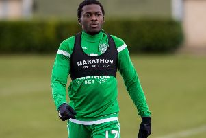 Kilmarnock are closing in on a loan deal for Thomas Agyepong who had a spell at Hibs last season. Picture: SNS