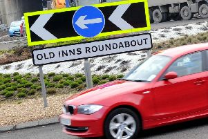 Major works are planned at the Old Inns roundabout in Cumbernauld next month