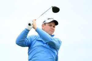 Robert MacIntyre tees off at the 11th. Picture: Andrew Redington/Getty Images