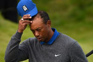 Tiger Woods admitted he was 'sore' during his first round at Portrush. Picture; Andy Buchanan/AFP/Getty
