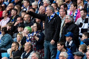 Kilmarnock fans vent their frustration. Picture: SNS