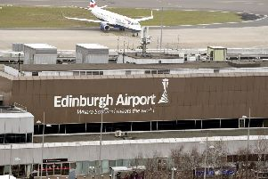 The plane was due to land in Edinburgh at 8.10am