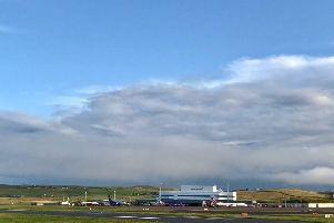Inverness Airport will be shut to air traffic on Sunday, before Sumburgh (pictured) and Kirkwall Airports close on Monday.