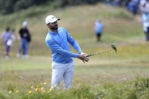 Kyle Stanley failed to shout fore but was unrepentant. Picture: Peter Morrison/AP