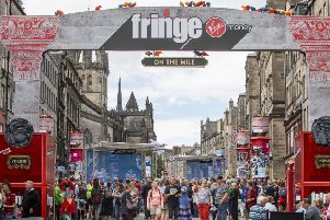 The Edinburgh Festival Fringe gets underway on The Royal Mile last year (Picture: SWNS)