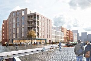 234 Fountainbridge flats and restaurant units set to be approved by councillors for canalside gap site, Picture: 3DReid / Dalgety Design