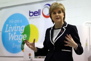 First Minister Nicola Sturgeon has given strong support to implementing the Living Wage