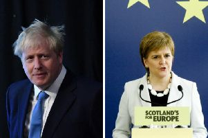 Boris Johnson is expected to meet with Nicola Sturgeon later today. Picture: PA/SNP