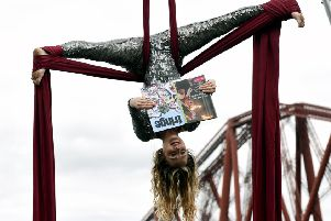 An acrobatic launche for this year's Festival Fringe programme. Picture: Lisa Ferguson