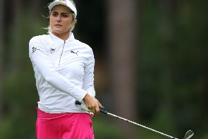 Lexi Thompson takes aprt in the pro-am for the AIG Women's British Open at Woburn. Picture: Richard Heathcote/Getty
