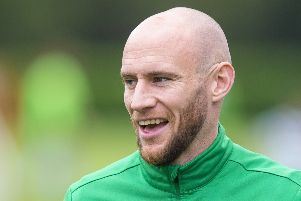 David Gray says there is a feelgood factor around Hibs which gives him optimism for the season ahead. Picture: Ross MacDonald/SNS