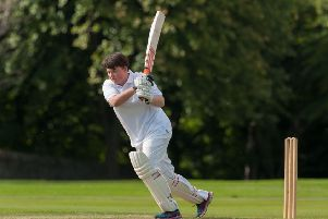 Battling for Scotland within the UK: Or, in this case, Ruth Davidson plays cricket for an MSP side against journalists at Myreside (Picture: Steven Scott Taylor)