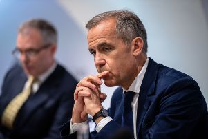 Governor of the Bank of England, Mark Carney, speaking at the Bank of England interest rate decision and inflation report press conference at the Bank of England in London. Photo: Chris J Ratcliffe/PA Wire
