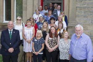Hawick and Hermitage councillor Watson McAteer and Balcary House Hotel owners David and Sue Watson with guests at a reunion there of former Barnardo's children.