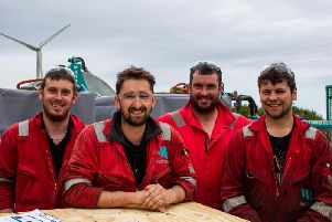 Motive Offshore technicians at the companys Boyndie base. Picture: Contributed